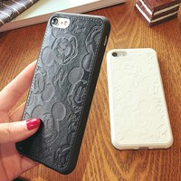 2017 Luxury PU Leather Cute Cartoon Mickey Mouse Cases For iPhone 7 6 6S Plus Back Cover Soft Mobile Phone Case Capa Fundas