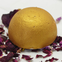 Shimmering Aphrodite Bath Bomb; featuring Rose and Rosewood essential oils; glitter bomb