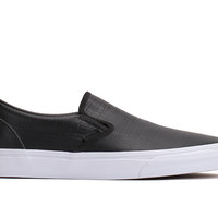 CALIFORNIA Classic Slip On 'Croc Leather' (Black)