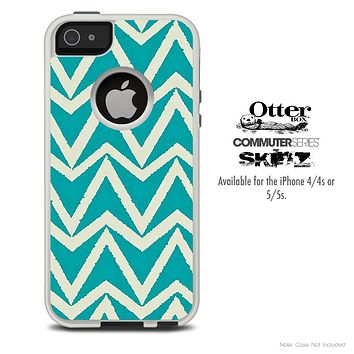 The Bleeding Green Shaped Skin For The iPhone 4-4s or 5-5s Otterbox Commuter Case