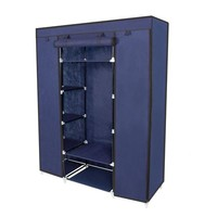 "67"" Portable Closet Storage Organizer Wardrobe Clothes Rack With Shelves"