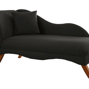 Ariel Chaise Lounge, Black, Chaise Longues