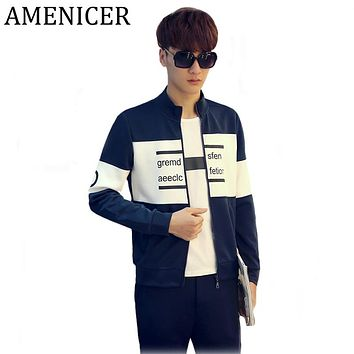 Mens Patchwork Fashion Letters Fight Color Hoody Casual Stripe Black Navy New Man Pull Over Cool Hoodies Raincoat Brand-Clothing