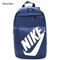 NIKE men and women campus backpack casual tide brand England wild fitness bag F0644-1 Navy blue