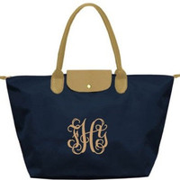 Monogrammed Tote - Long Champ Inspired