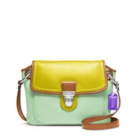 Coach :: Poppy Colorblock Leather Flap Crossbody
