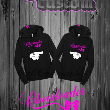 Black Cheerleader Hoodie Set for Two