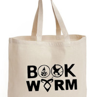BOOK WORM Cotton Tote ECO canvas harry potter school/ picnic/ gift Bag | eBay