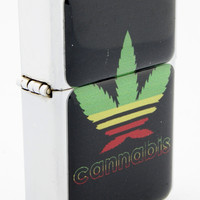 Windproof Customized Chrome Oil Lighter - Leaf Design - Collectable, Refillable, Damn Cool. :)