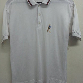 Sale Vintage Rare 1980s Original Gucci High Fashion Designer Italian Casual Polo Shirt