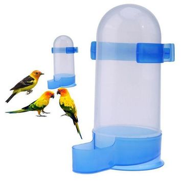 ICIKION Plastic Bird Feeder Pet Cage Hanging Automatic Food Bowl Drinking Water Dispenser for Parrot Parakeet Budgies Cockatiel