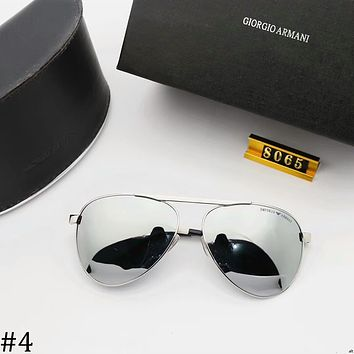 GIORGIO ARMANI 2018 new trend driving men's big box sunglasses #4