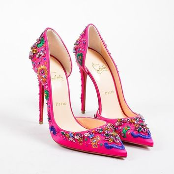 PEAP ?¨®¡é¨?¨ª¨®Christian Louboutin Pink Gem   Artifice 120   D  Orsay Pumps