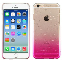Apple iPhone 6 6S (4.7) Transparent Hot Pink Gradient Water Drop Back Case Cover