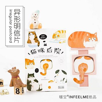 30 Pcs Lazy Cat Christmas Greeting Card