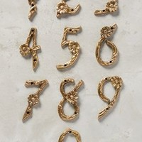 Flowering Branch House Number by Anthropologie in Gold Size: