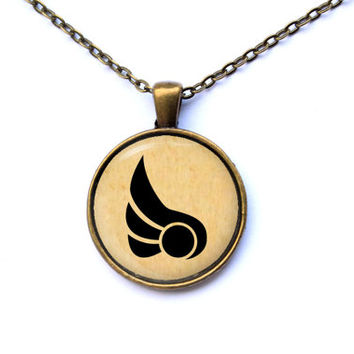 Gamer jewelry League of Legends necklace Demacia pendant