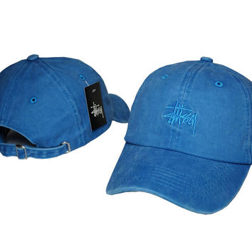 3f2977cf792 Blue Baseball Cap Hat Adjustable Sports from b-live