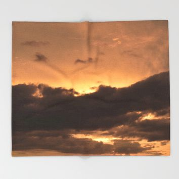 Costa Rican Sunset Throw Blanket by UMe Images