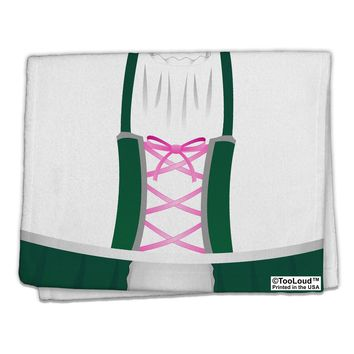 "Dirndl Costume Green 11""x18"" Dish Fingertip Towel All Over Print by TooLoud"