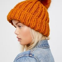 Free People Happy Trails Pom Beanie