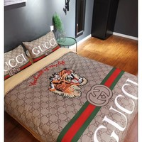 Home Decor GUCCI Tiger Blanket Quilt coverlet Pillow shams 4 PC Bedding Set
