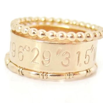 Stackable Coordinate Ring Set