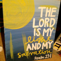 Bible Verse Canvas by PeaceAndPainting on Etsy
