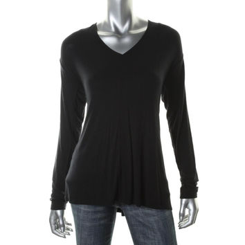 Lord & Taylor Womens Modal Long Sleeves Pullover Top
