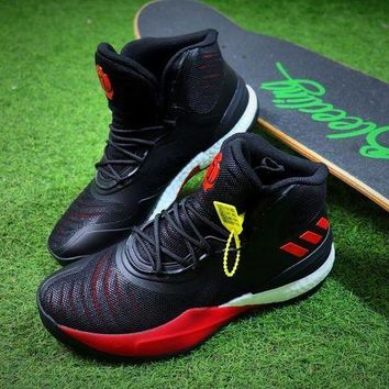 VON3TL Adidas D Rose 8 Black Red Basketball Shoes Sport Shoes