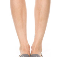 GREY CROSS STUDDED LOAFERS