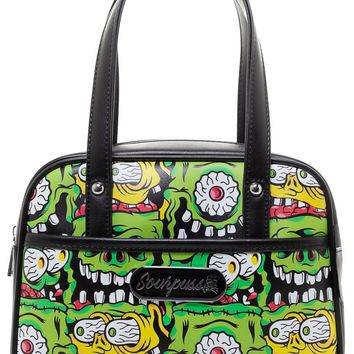 Fink Faces Mini Bowler Purse - Spooky Green Monster Fink