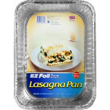 "Hefty® 00ZR38930000 EZ Foil® Non-Stick Lasagna Pan with Lid, 14"" x 10"" x 3"""