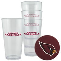 Arizona Cardinals Plastic Pint Glass Set
