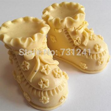 Design 336 Baby's Shoes Shape  Silicone  Mold, 3D Fondant Mold,Soap Mold,Chocolate Mold,Cake  Tool