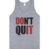 Don't Quit (Do It Tank)-Unisex Athletic Grey Tank