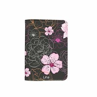 Flower Name Customized Cute Leather Passport Holder - Passport Covers - Passport Wallet_SUPERTRAMPshop