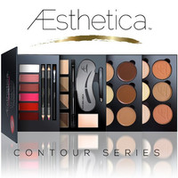 Aesthetica Cosmetics Contour Series - Contouring and Highlighting Library Set Makeup Beauty Lip Face Kit