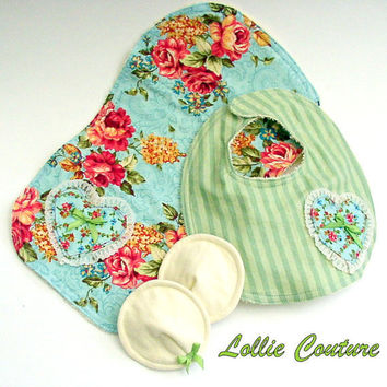 Lil Sweet Pea Baby Burp Clothby Lollie Couture4 by lolliecouture