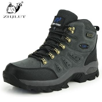 ZHJLUT New Men Women Water-resistant Walking Camping Shoes Boots Sports Shoe Leather U