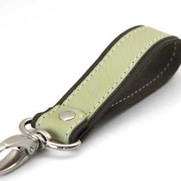 Leather Key Chain - Key Fob - Handmade Key Ring - Lanyard - Wrist Strap - Key bracelet - Key Ring key Fob -Custom Leather Goods