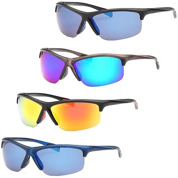 AFONiE Colorful Raided Sunglasses for men - 4Pack