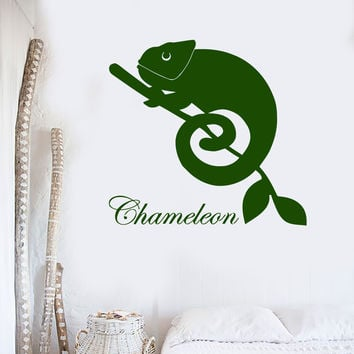 Wall Stickers Vinyl Decal Chameleon Lizard Reptile Animal Decor Mural Unique Gift (ig037)