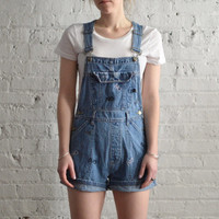 "Embroidered ""NO"" Overalls - Size S"