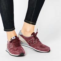 New Balance 420 Burgundy Perforated Leather Trainers