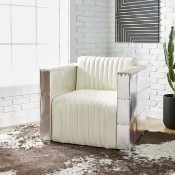 Strick & Bolton Vindicator Modern White Leather Chair | Overstock.com Shopping - The Best Deals on Living Room Chairs