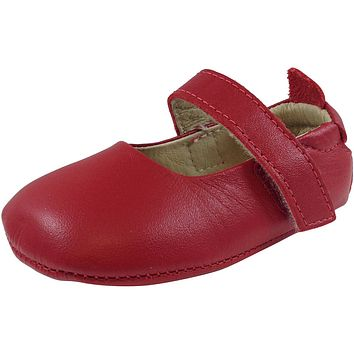Old Soles Girl's Red Leather Gabrielle Mary Jane