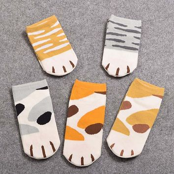 [COSPLACOOL]Girls Cute Cat Claw Style Short Ankle Socks Anime Neko Atsume Cosplay Props Harajuku Cartoon Socks Women calcetines
