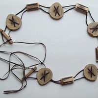 Antler Pieces Belt with Leather Straps - Vintage, Unusual,  Natural