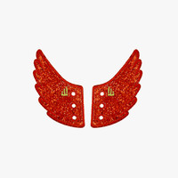 Shwings Lace Wing Red Sparkle